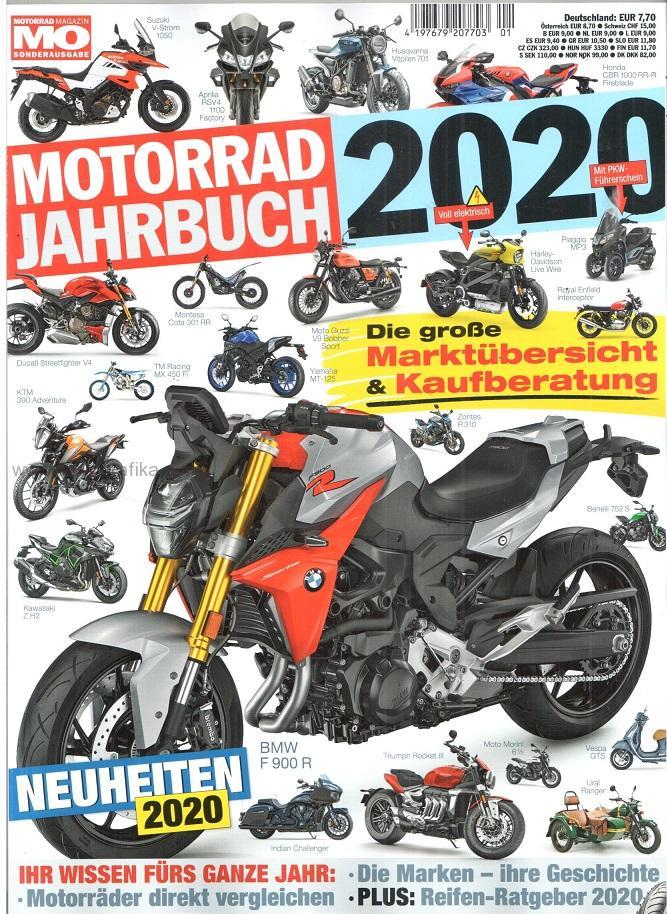 motorrad jahrbuch 2020 motocykly katalog 2020. Black Bedroom Furniture Sets. Home Design Ideas