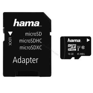 Hama microSDHC 32 GB Class 10 UHS-I 80 MB/s + Adapter/Mobile