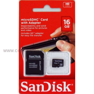 SanDisk microSDHC Card Photo 16 GB + Adapter