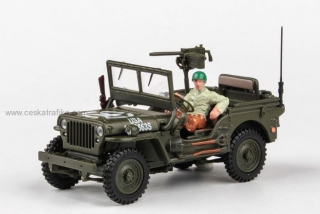 Jeep Willys 4x4 open top - Cararama 1:43