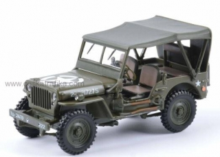 Jeep Willys 4x4 soft top - Cararama 1:43