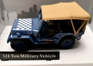 Jeep Willys 4x4 blue soft top - Cararama 1:43