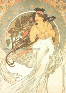 Pohlednice Alfons Mucha - Music - 1898