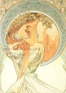 Pohlednice Alfons Mucha - Poetry - 1898