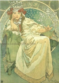 Pohlednice Alfons Mucha - Princess Hyacinth  - 1911